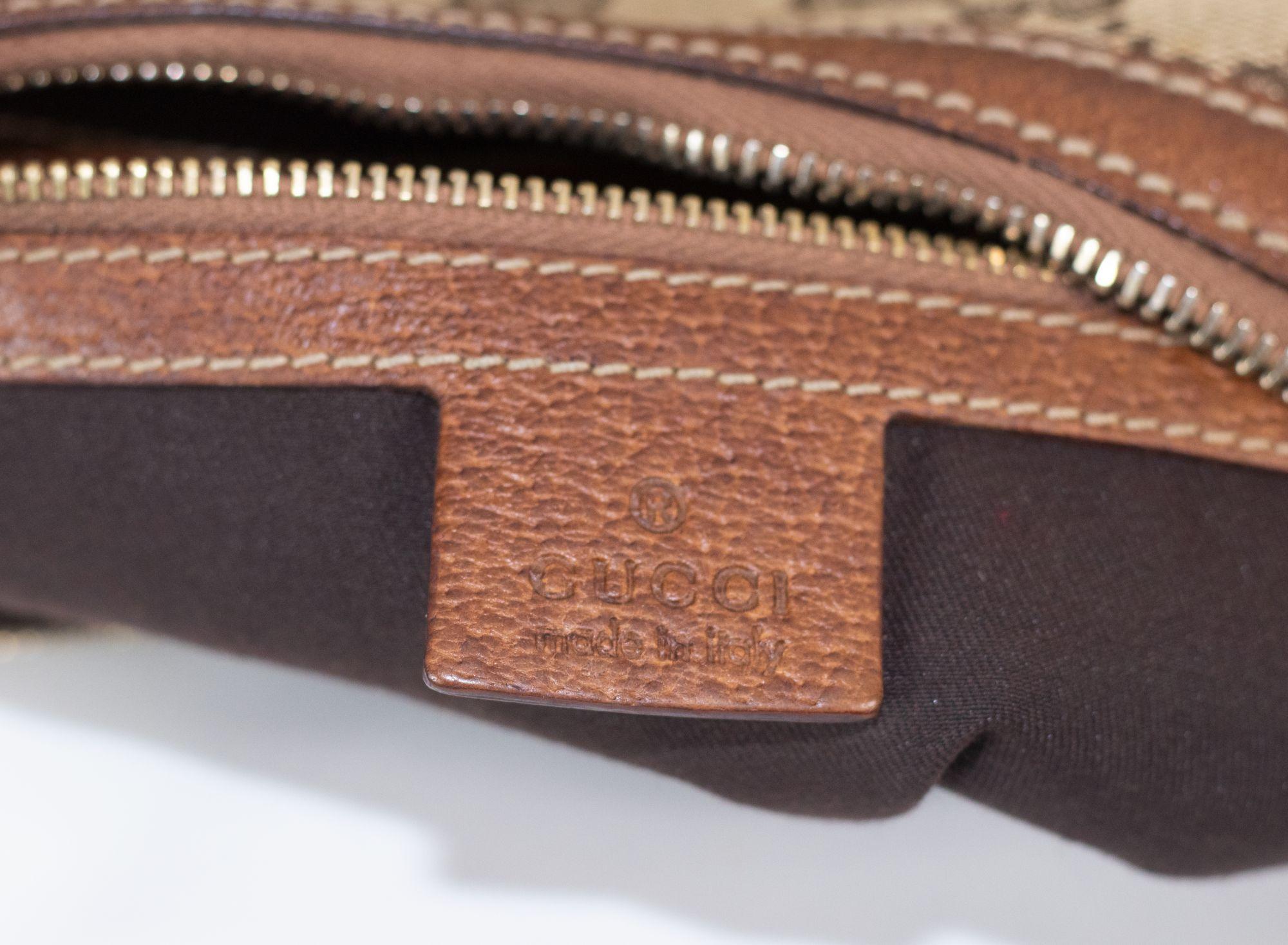 Monogram GG Bamboo Saddle Hobo Bag