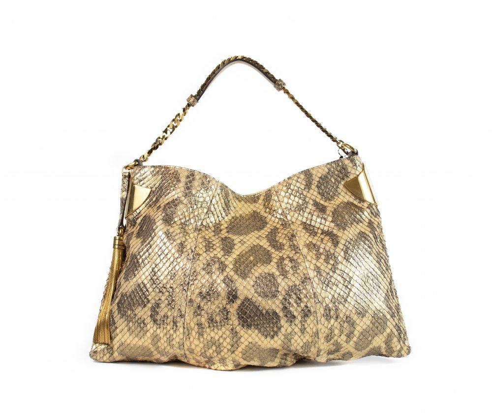 Golden Snake Print Bag
