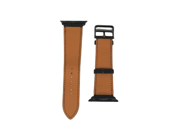 Apple Watch Strap - 40mm Noir Swift Leather Double Tour