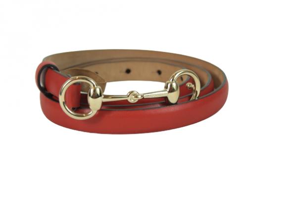 Horsebit Red Belt