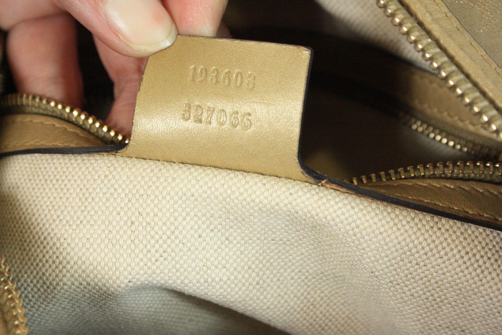 Golden Boston Bag