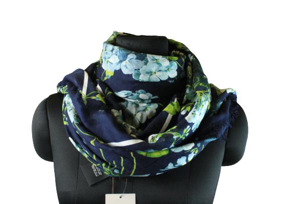 Floral Blue Print Scarf