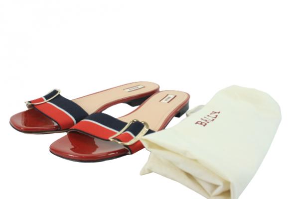 Jordi Red Flats Size 39