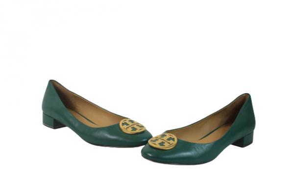 Green Ballet Flats Size 9M