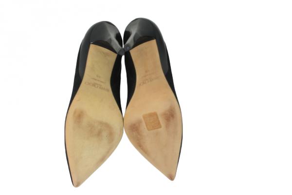 Black Sued Heels Roma Size 40