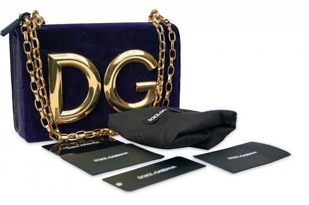 Velvet DG Girls Crossbody Bag Purple