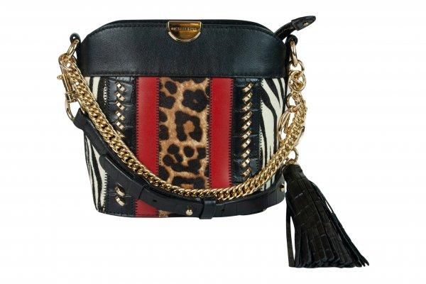 Animal Print Black & Red Sling Bag