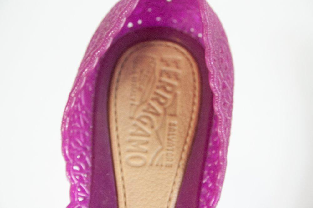Purple Cut Ballerina Jelly Flats 35