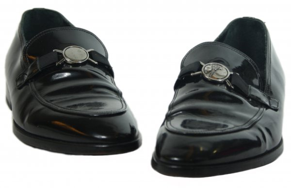 Black Patent Leather Dress Loafers