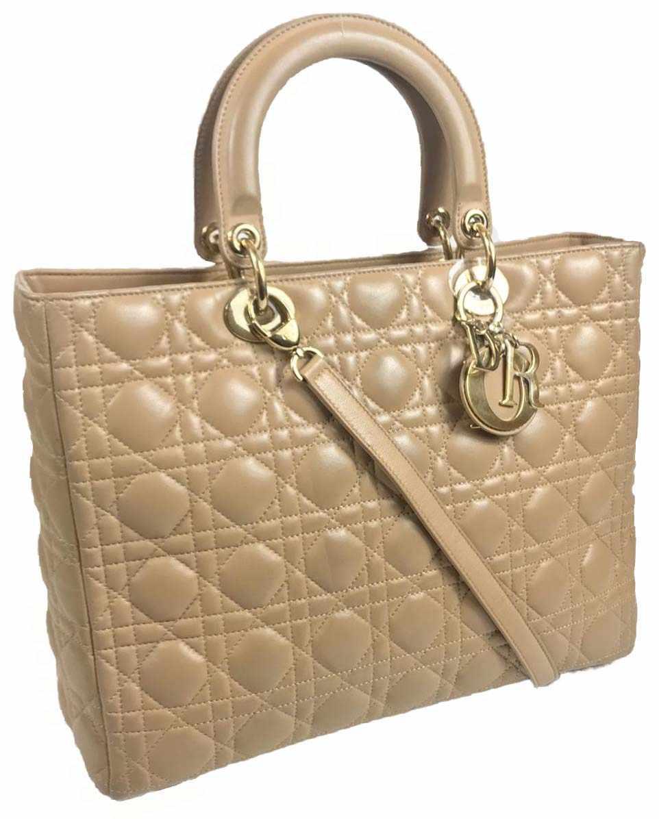 Large Lady Dior Beige