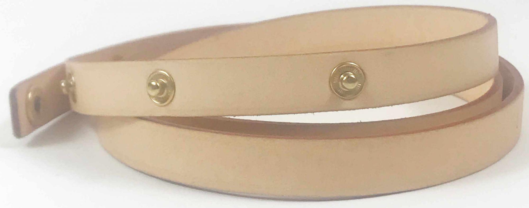 Leather Embossed Florentine Waist Belt/Strap Size : S