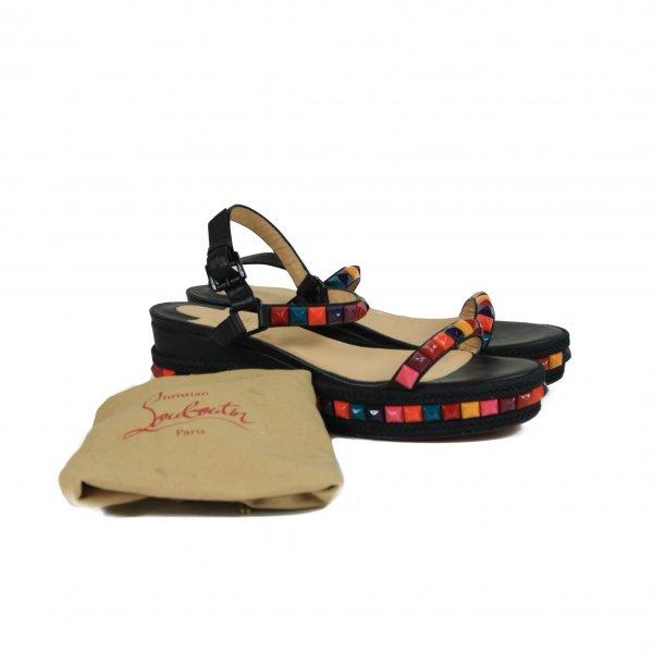 Cataclou Multi-colour Studded Platform Sandals  Size: 41