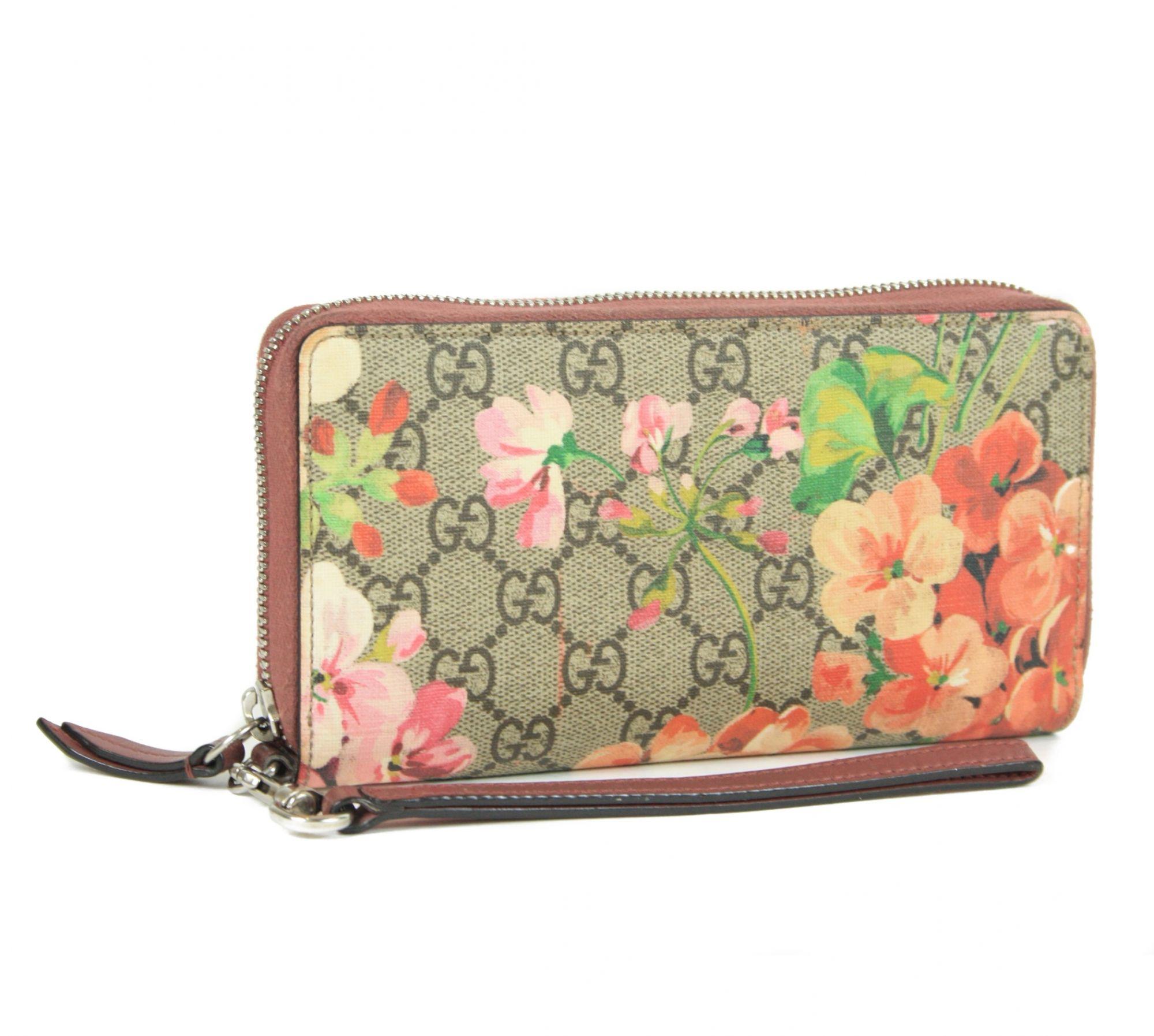 GG Blooms Supreme Zip Around Wallet