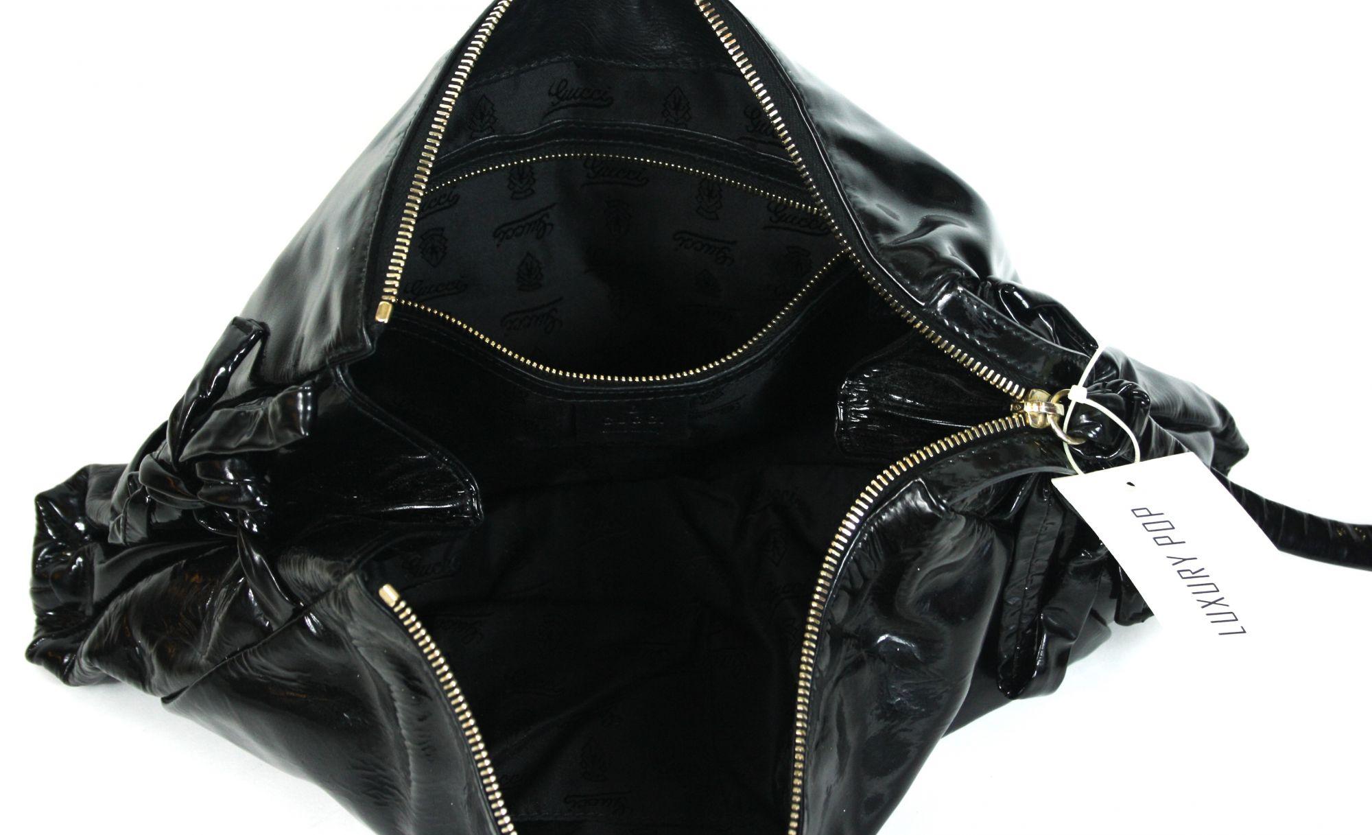 Black Patent Leather Hysteria Clutch
