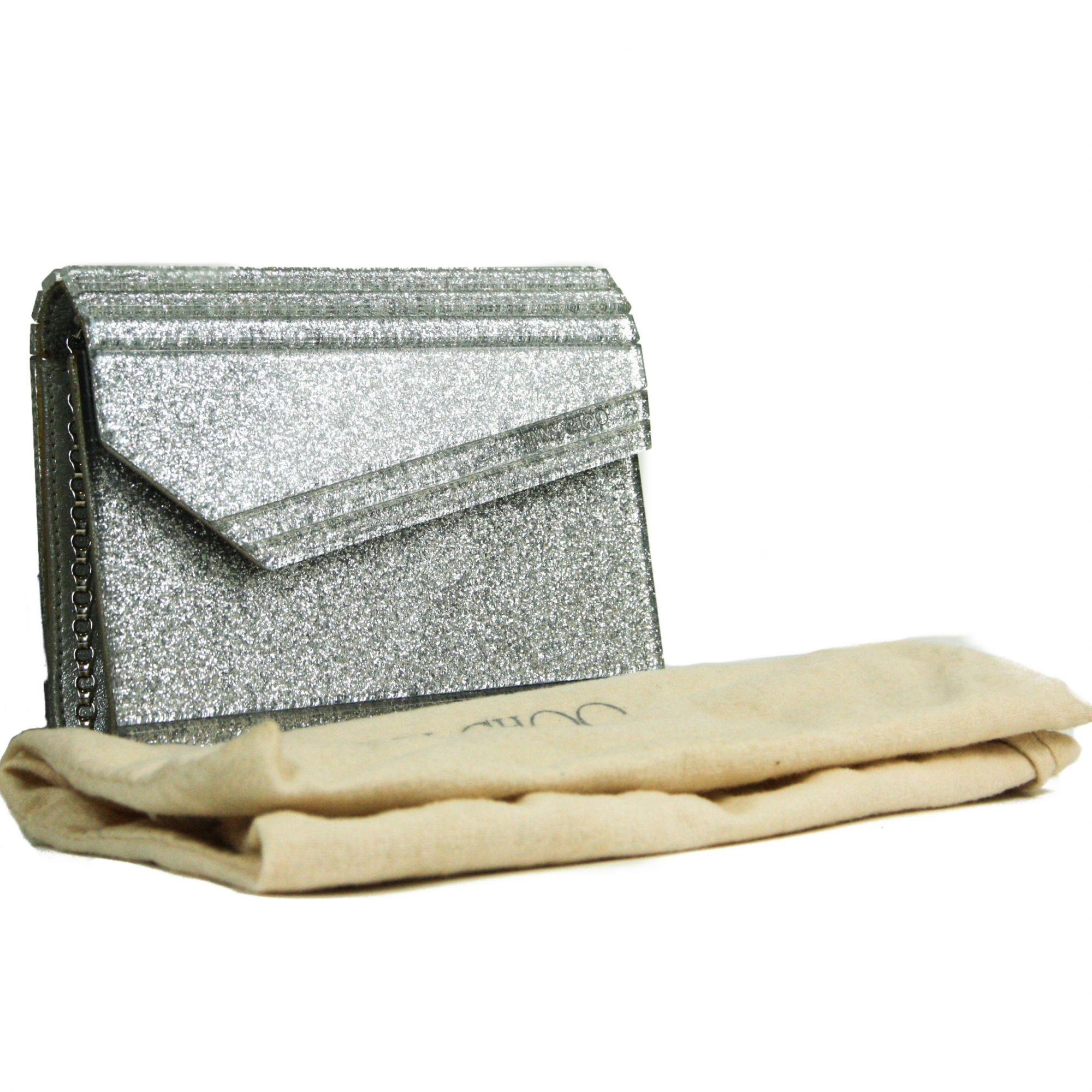 Candy Glitter-Embellished Clutch Bag