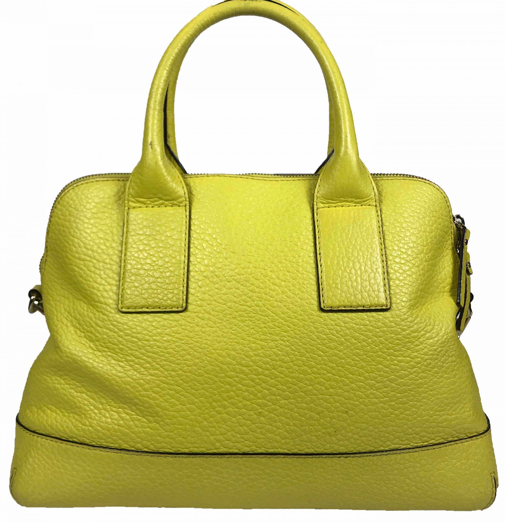 New York Yellow Leather Satchel