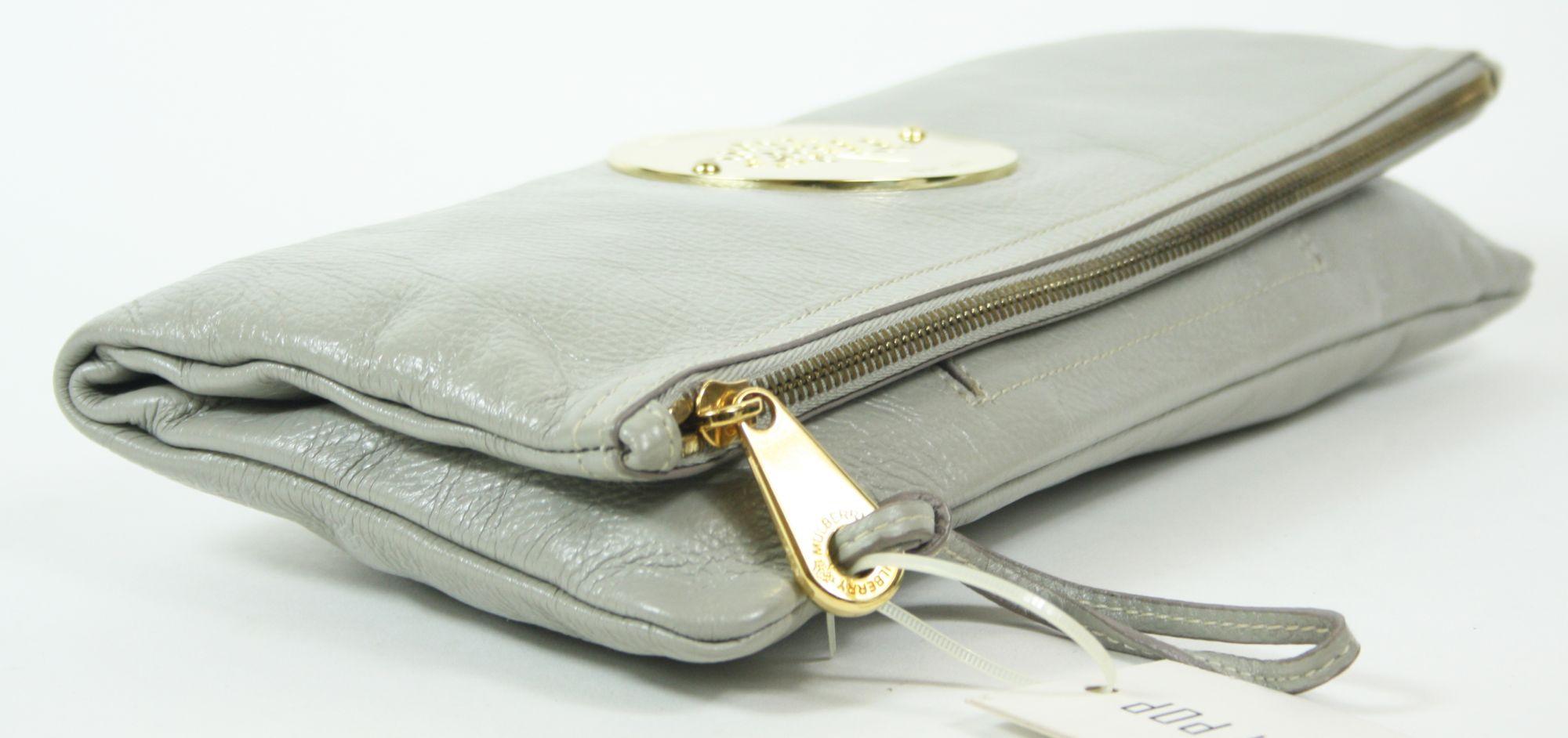 Daria Clutch in Grey Soft Spongy Leather