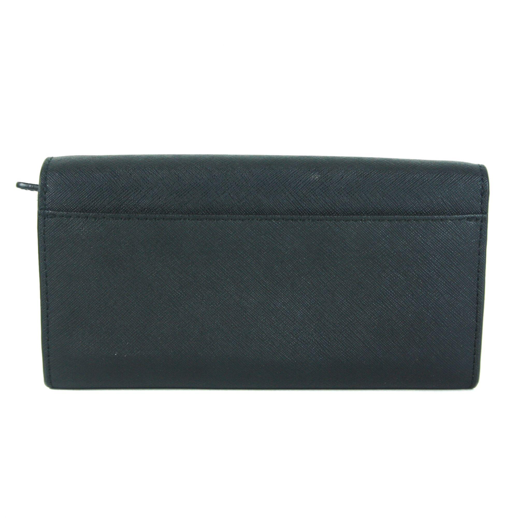 Jet Set Travel Black Saffiano Leather Wallet