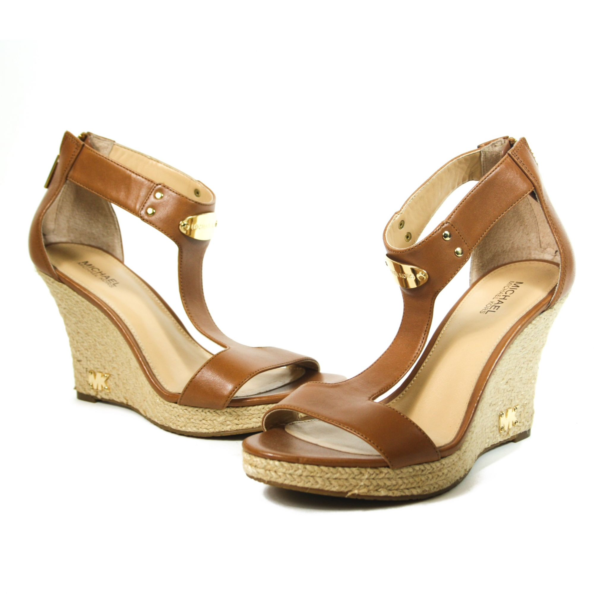 Plate Espadrille Leather Wedge Size: 6.5M