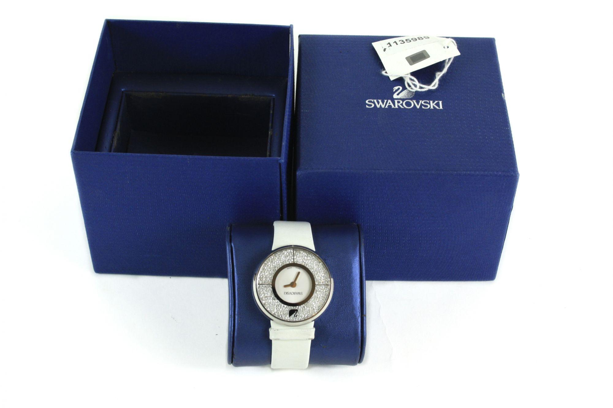 Crystalline Pure White Ladies Watch