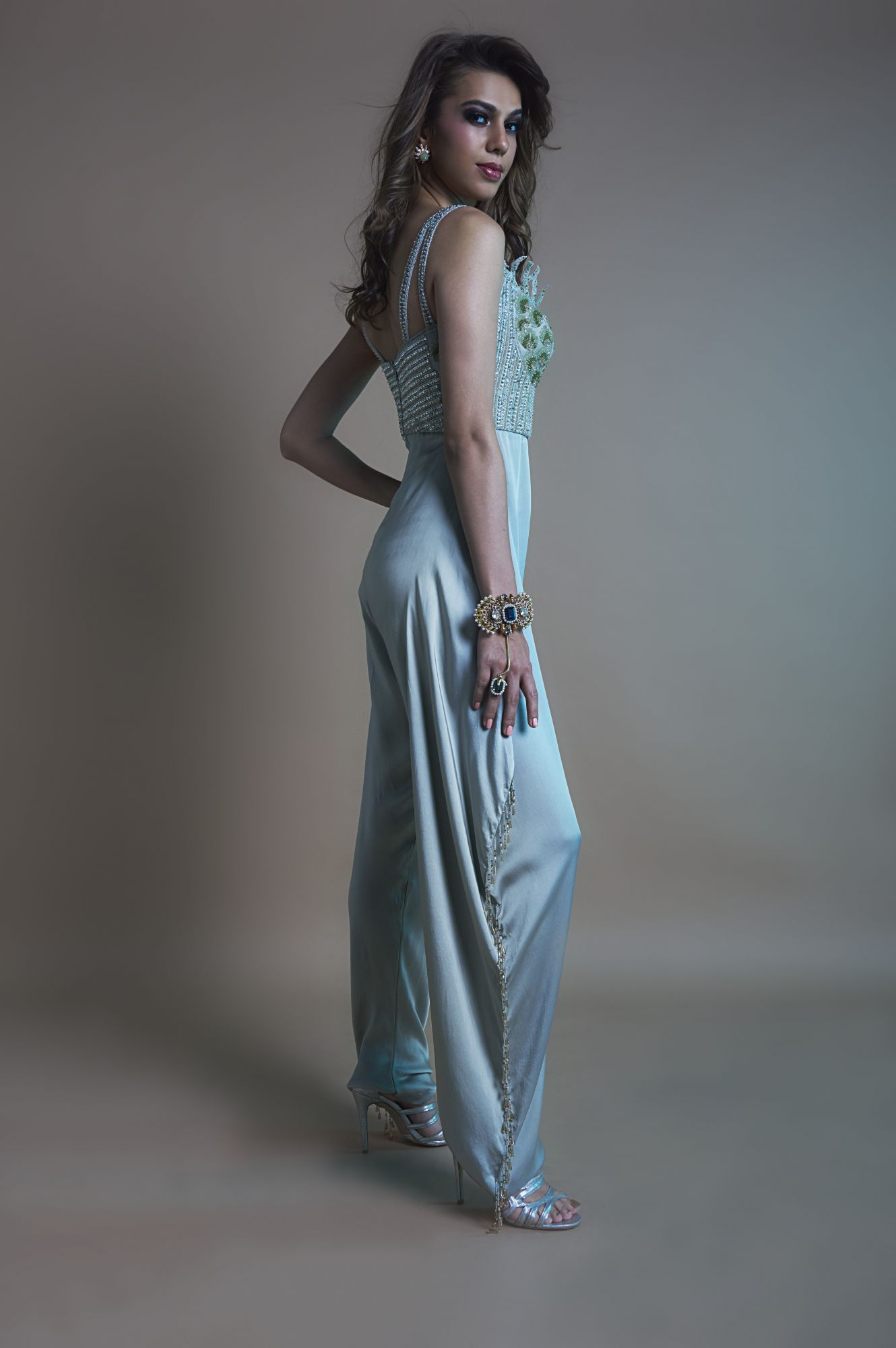 Embroidered Jumpsuit  with tassels (Size S)