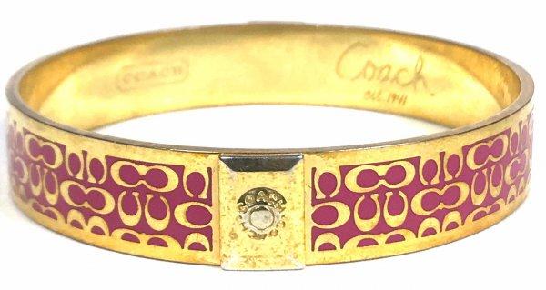 Pink & Gold Signature C Bangle Bracelet