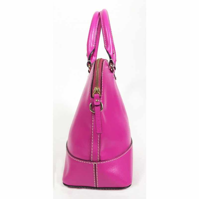 Rachelle Pink Leather Cross Body Bag