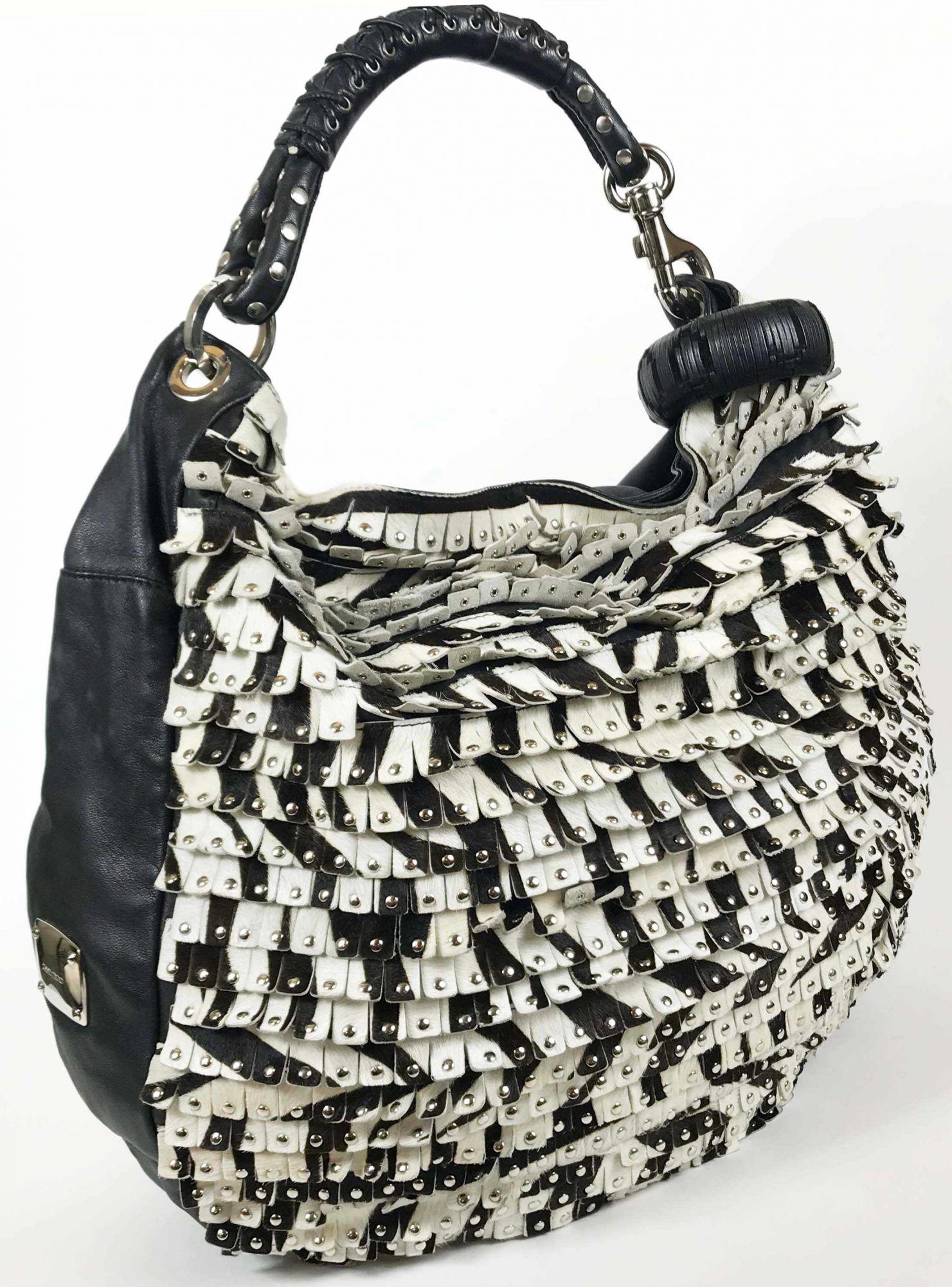 Studded Hobo Suede Bag