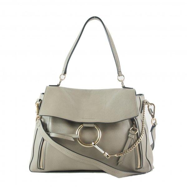 Faye Mixed Leather shoulder medium bag