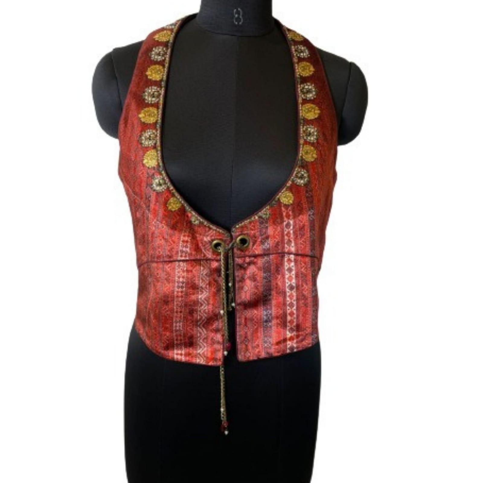 Maroon Chain Jacket - Large