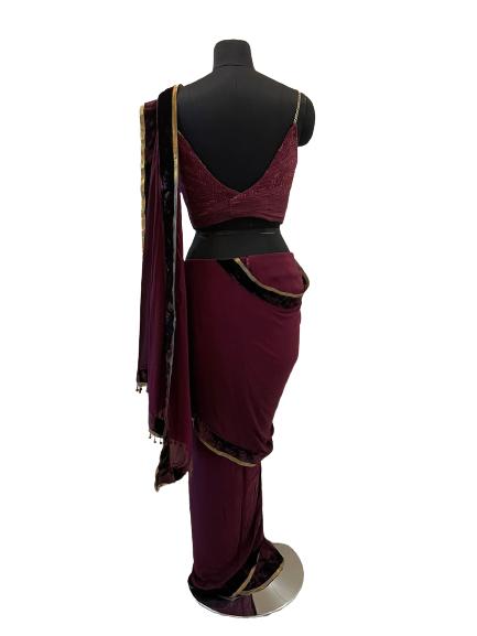 Concept Maroon Saree