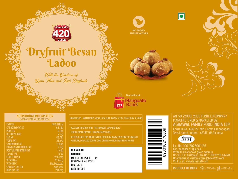 420 Dryfruit Besan Ladoo