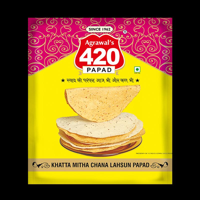 420 Chatpata Chana Lahsun Papad (Metalized Pack)