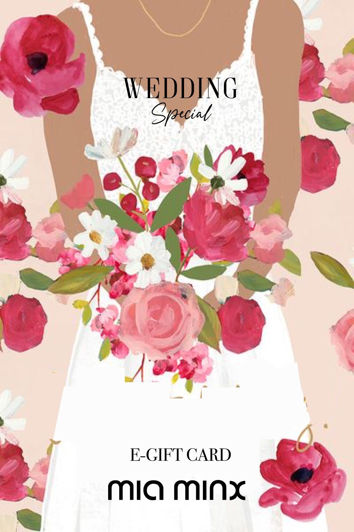 wedding e-gift card
