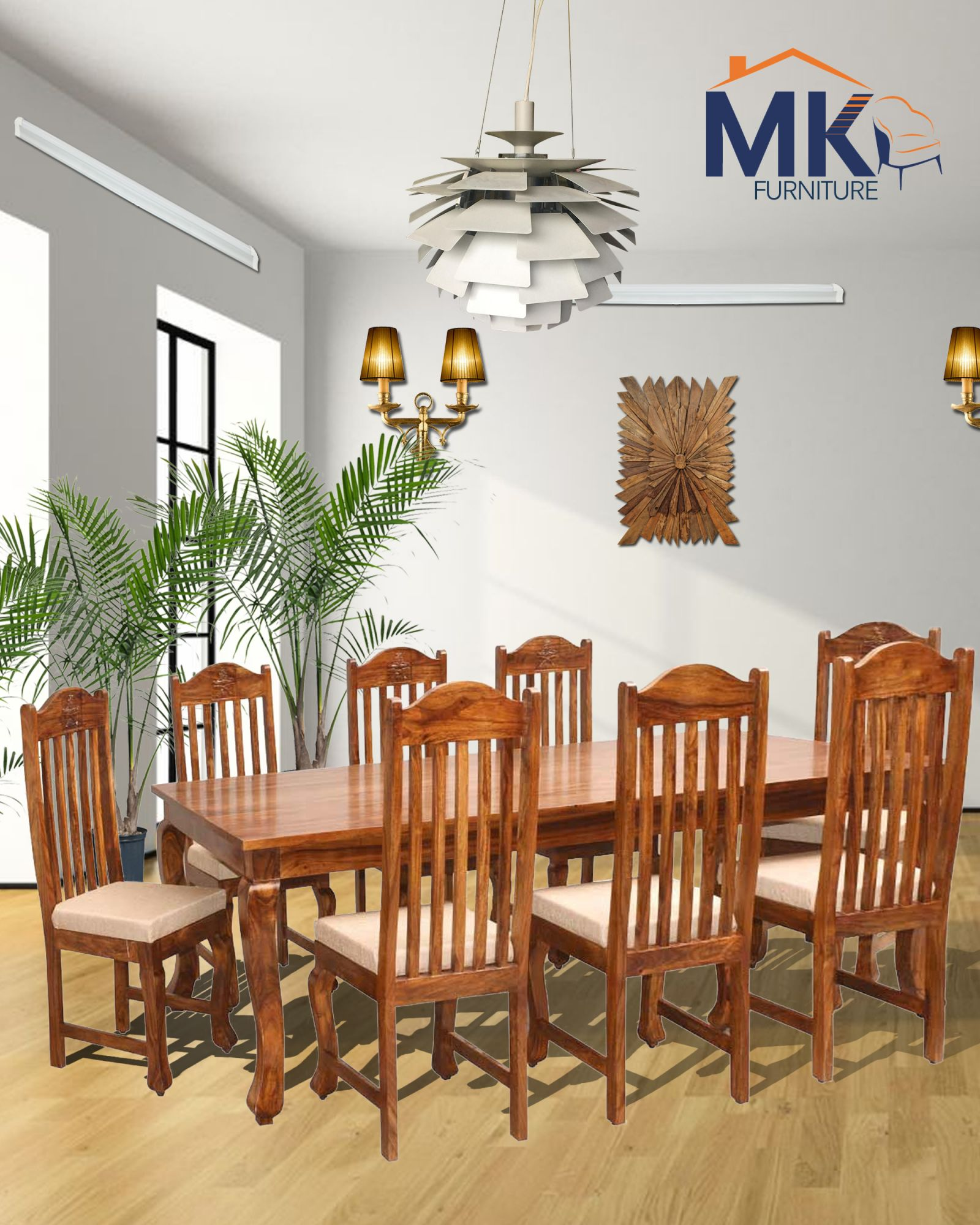 Solid Sheesham Wood Wertex Dining Table