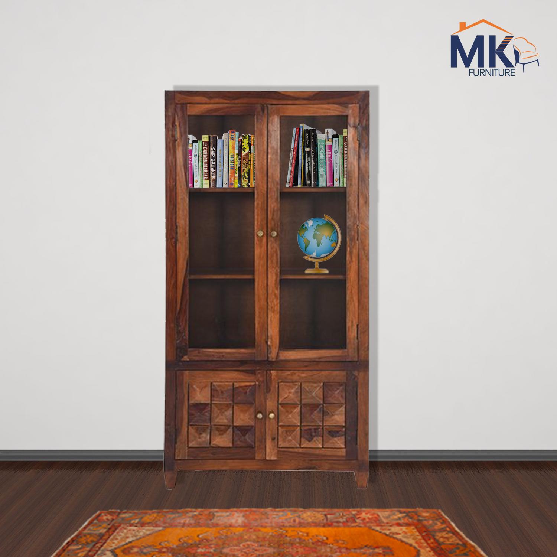 Diamond bookshelf  In Solid Sheesham Wood