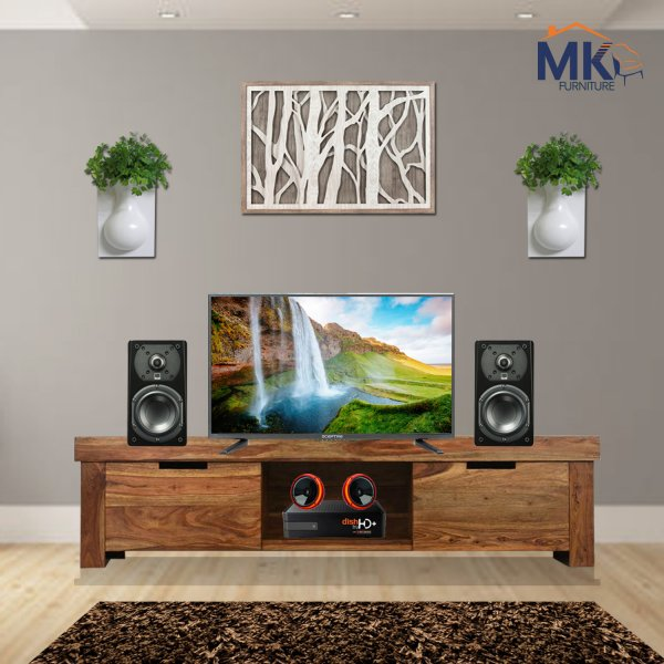Solid Wooden  TV Cabinet (Honey)