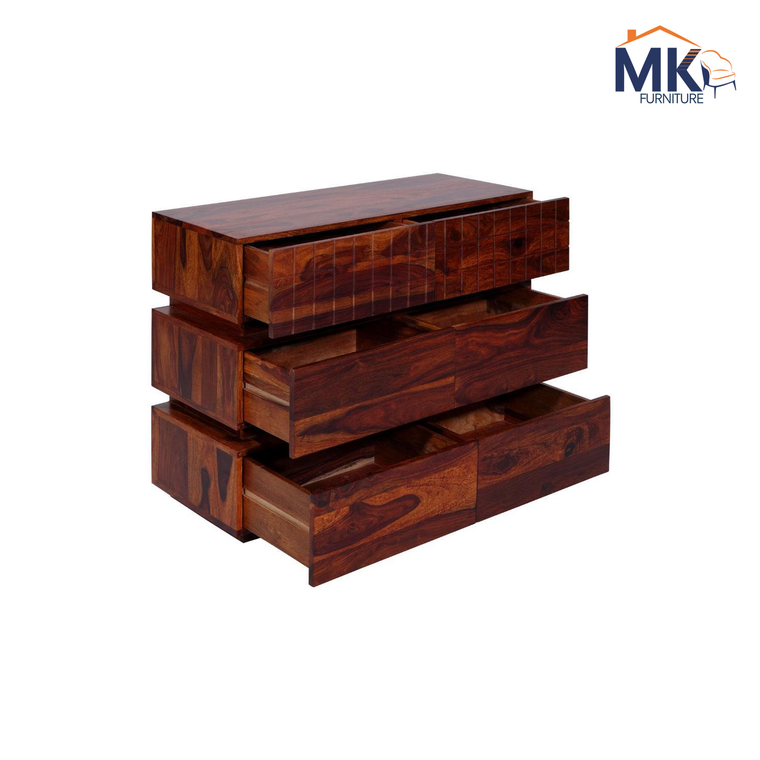 Solid Wood Chest Of Six Drawer - Teak