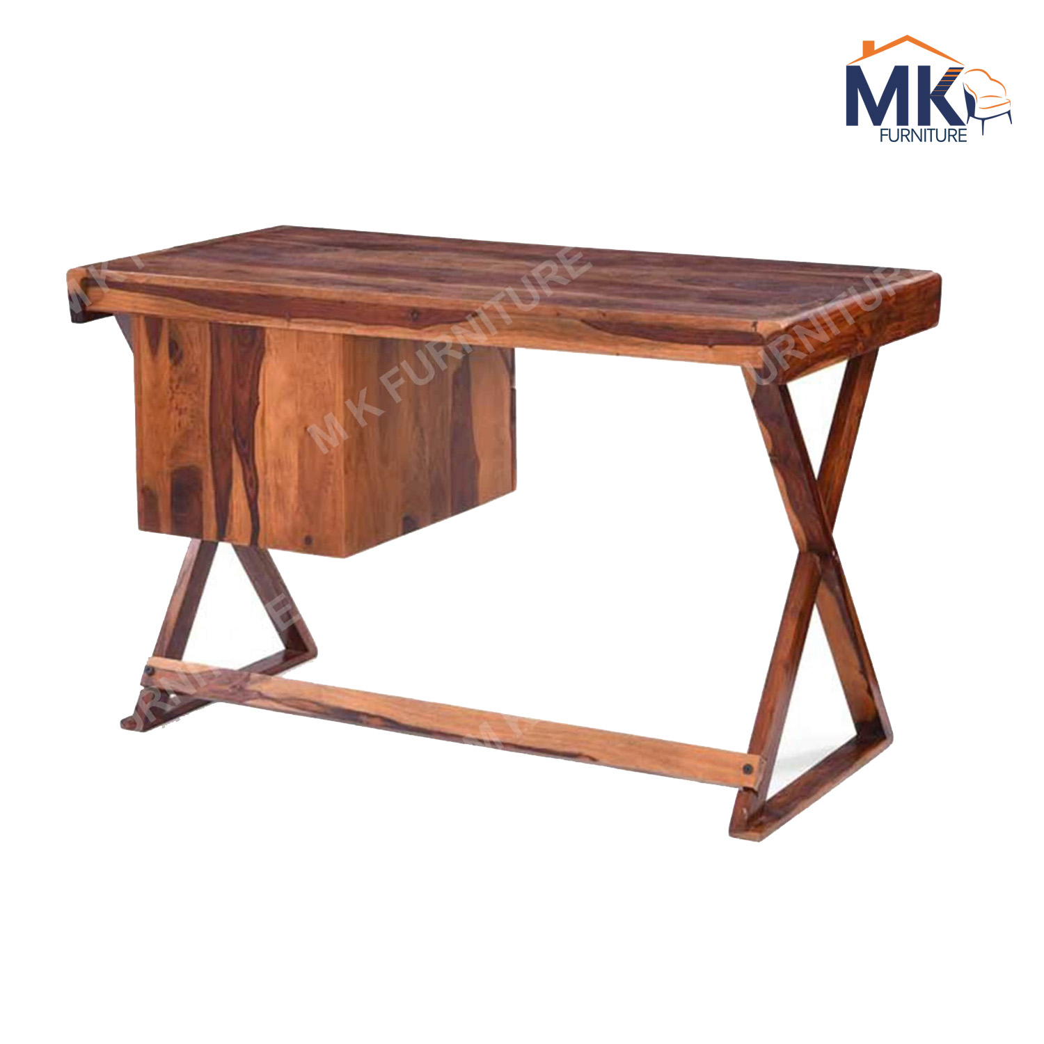 Solid Wood Study Table in Provincial Teak Finish
