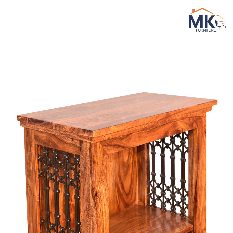 Jali Bookshelf Solid Wood Small