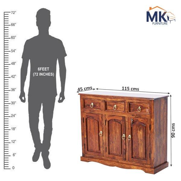 Solid  Sheesham Wood  Sideboard Cabinet