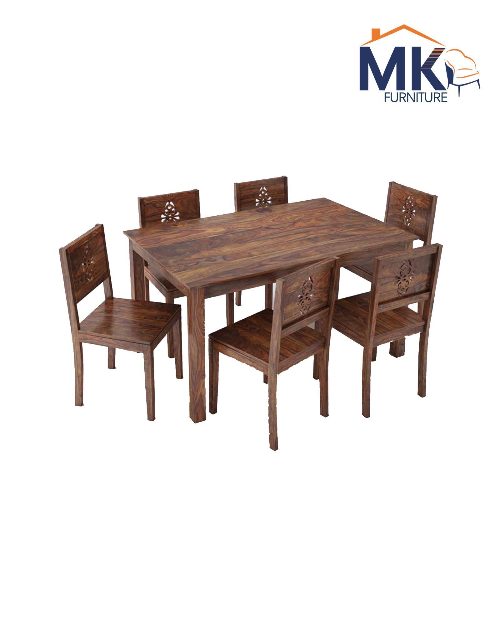 Six Seater Dining  Set In Sheeaham Wood (Teak)