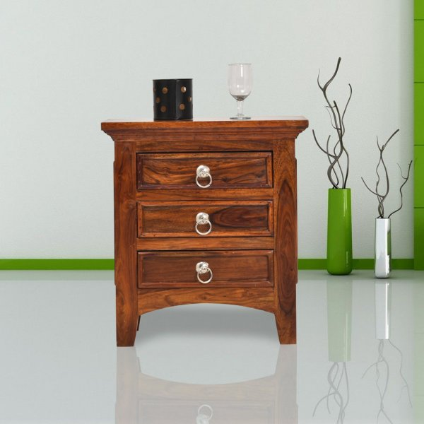 Crisco Sheesham Wood Bedside Table