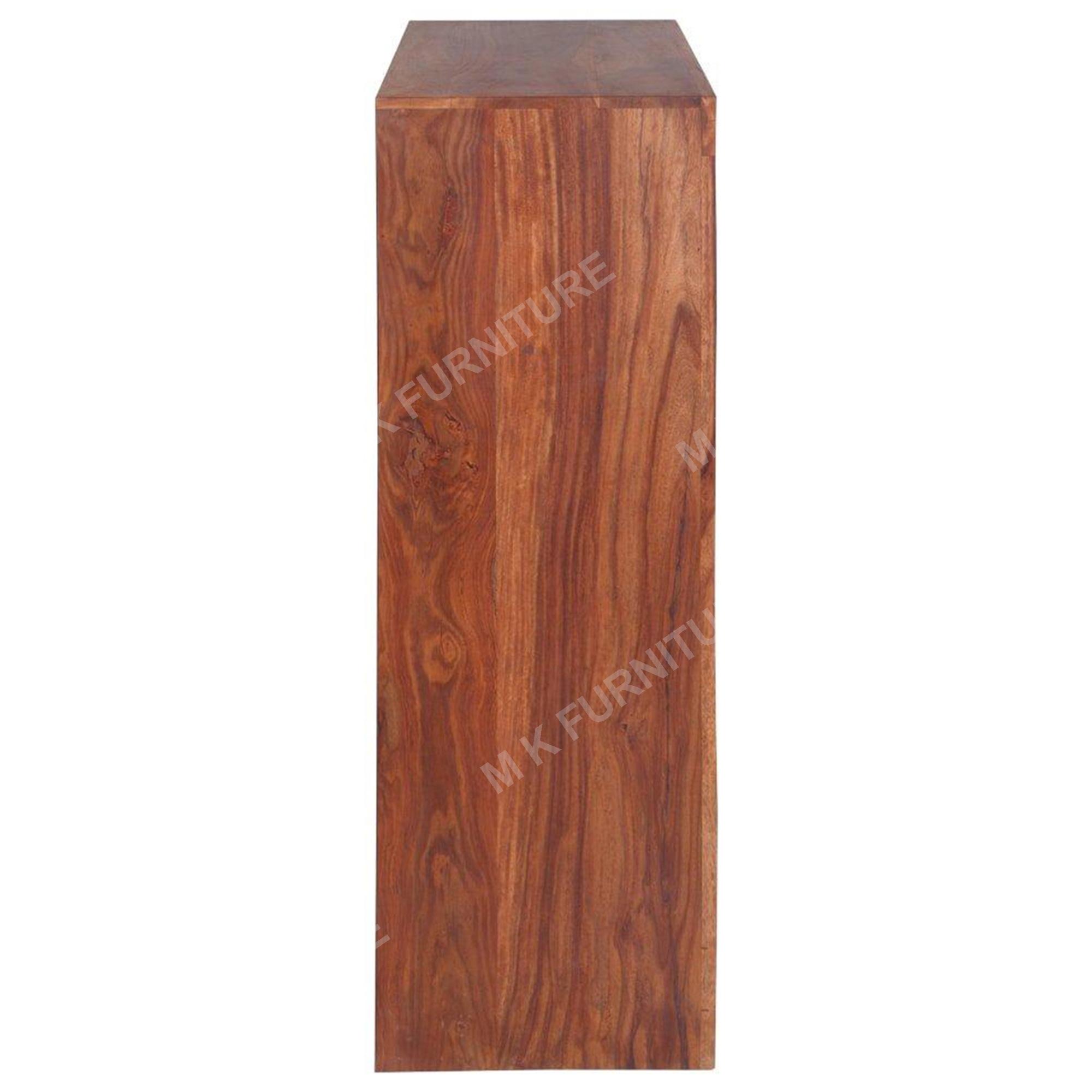 Solid Wood Wine Rack-Light Walnut