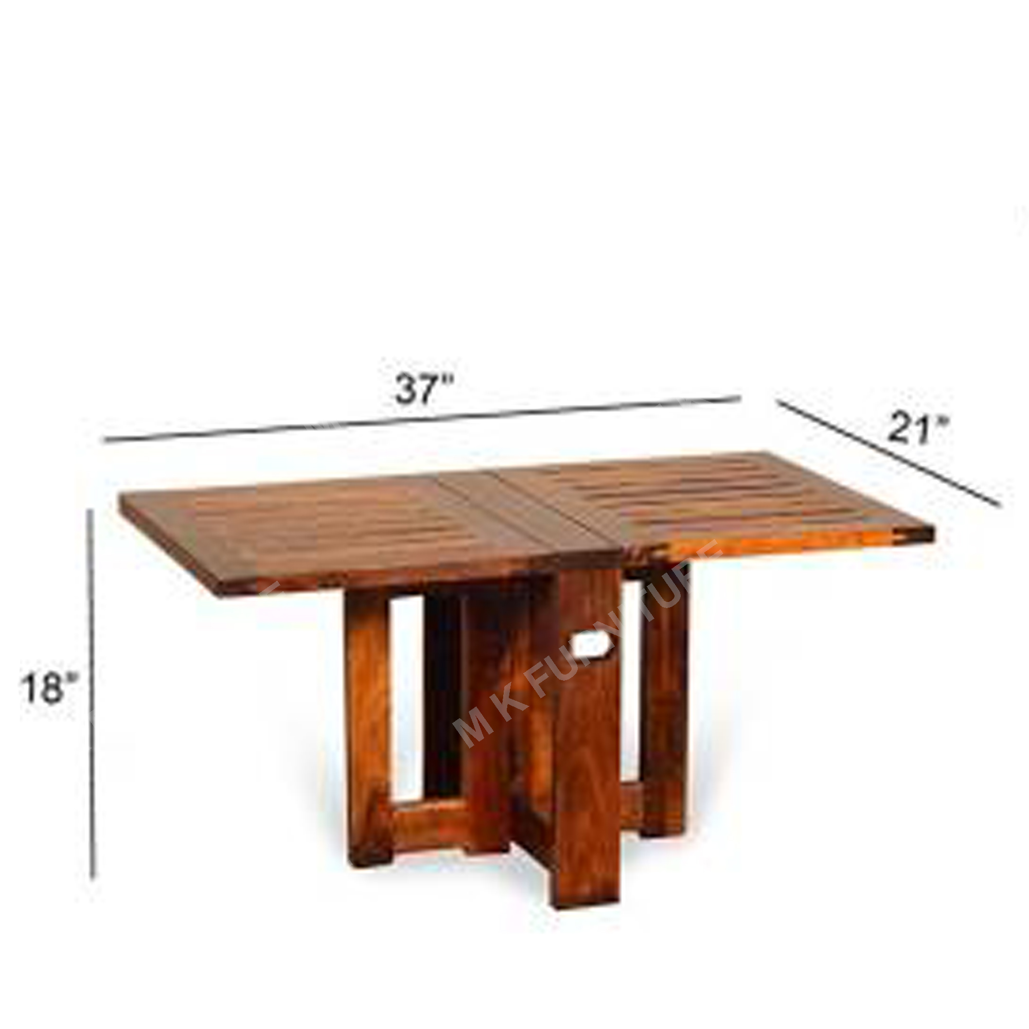 Solid Sheesham Wood Folding Dining Table for Dining Room