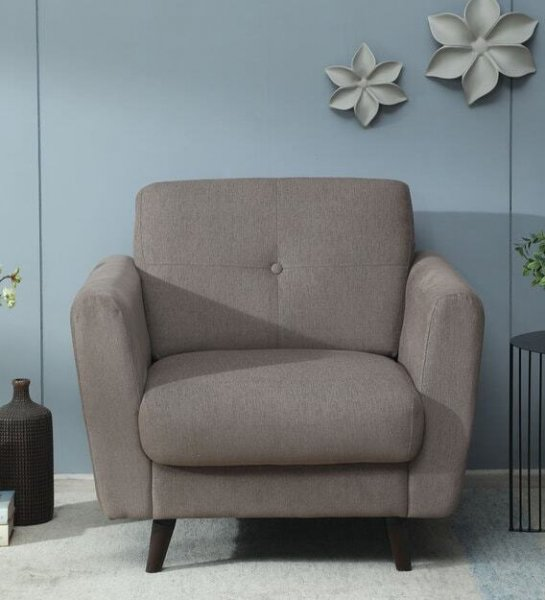 Kelly 1 Seater Sofa in Sandy Brown Colour