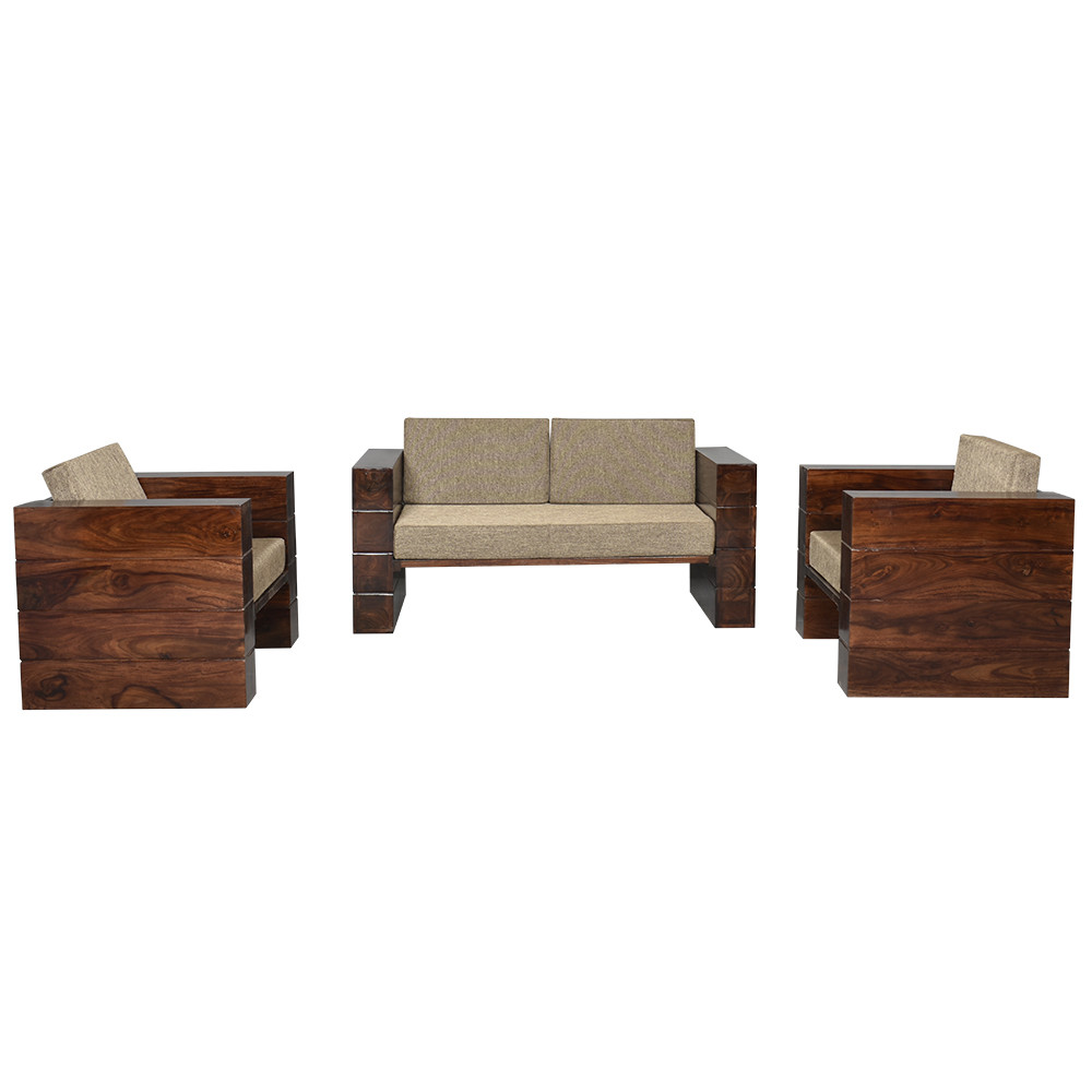 Sheesham Agnes Solid Wood Sofa set