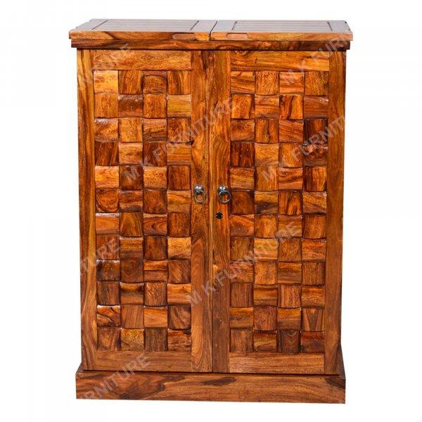 Wood way solid wood Bar Cabinet