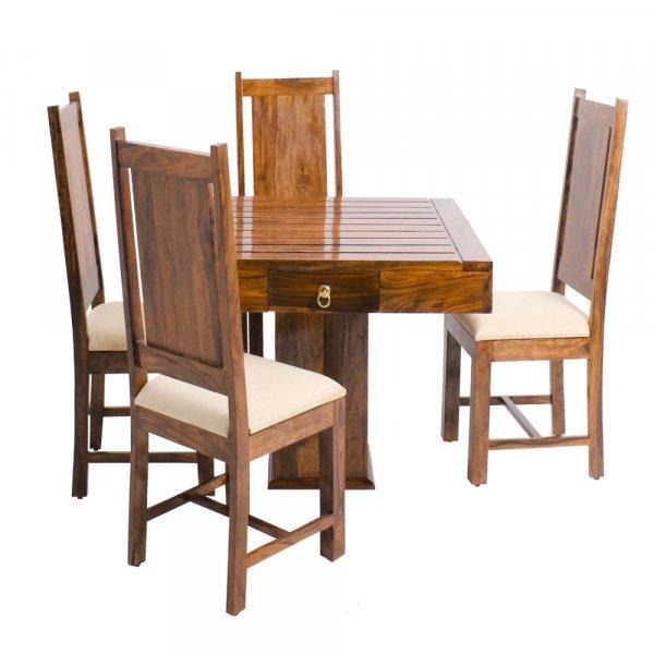 Solid  Sheesham  Wood Orson  4 Seater Dining Set