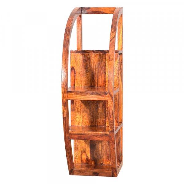 Solid  Wooden Half Moon Bookshelf